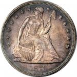 1871 Liberty Seated Silver Dollar. MS-65 (PCGS).
