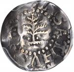 1652 Pine Tree Threepence. Noe-34, Salmon 1-A, W-630. Rarity-4. Pellets at Trunk. Fine-15 (PCGS).