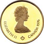 World Coins, Canada.  Elizabeth II (1952 -). 100 dollars 1976. Fr. 7. 16.91 g.  25 mm.  优美