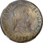 CHILE. 8 Reales, 1814-So FJ. Santiago Mint. Ferdinand VII. NGC MS-62.