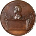 1847 (Post 1850) Major General Winfield Scott / Mexican-American War Medal. Bronzed Copper. 89.5 mm.