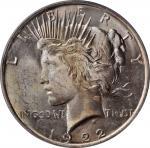 1922 Peace Silver Dollar. MS-64 (PCGS). OGH.