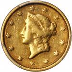 美国1853年1美元金币。