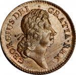 1723 Wood's Hibernia Halfpenny. Martin 4.33-Gb.2, W-13120. Rarity-3. MS-64 BN (PCGS).