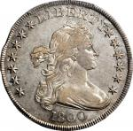 1800 Draped Bust Silver Dollar. BB-182, B-2. Rarity-6. AU-50 (PCGS).