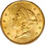 1873 Liberty Head Double Eagle. Open 3. MS-62+ (PCGS). CAC.