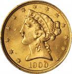 1900 Liberty Head Half Eagle. MS-65 (PCGS).