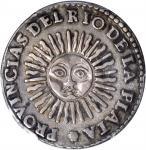 ARGENTINA. 2 Soles, 1826-RA P. PCGS EF-45 Secure Holder.