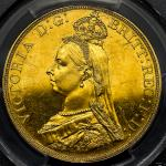 GREAT BRITAIN Victoria ヴィクトリア(1837~1901) 5Pounds 1887 PCGS-MS61 AU