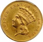 1864 Three-Dollar Gold Piece. AU Details--Altered Surfaces (PCGS).