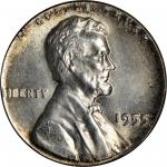1955 Lincoln Cent--Struck on a Silver Dime Planchet--MS-65 (PCGS).