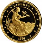 1876 (2010) George T. Morgan Proposed Design for a $100 Gold Union. Private Issue. One-Ounce Pure Go