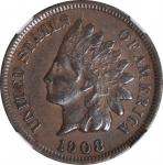 1908-S Indian Cent. EF Details--Cleaned (NGC).