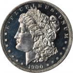 1900 Morgan Silver Dollar. Proof-64 Cameo (PCGS). CAC.