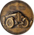 SWITZERLAND. Car/Hot Air Balloon Bronze Medal, 1926. PCGS SPECIMEN-64 Gold Shield.