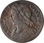 1787 Connecticut Copper. Miller 2-B, W-2755. Rarity-3. Mailed Bust Left. VF Details—Tooled (PCGS).