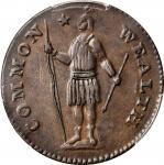 1788 Massachusetts Cent. Ryder 10-L, W-6280. Rarity-2. Period After MASSACHUSETTS. AU-53 (PCGS).