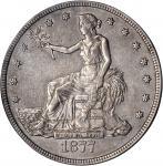 1877-CC Trade Dollar. EF-40 (PCGS). OGH.