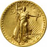 MCMVII (1907) Saint-Gaudens Double Eagle. High Relief. Wire Rim. MS-61 (PCGS).