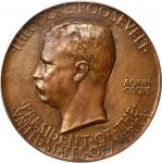 MCMV (1905) Theodore Roosevelt Inaugural Medal. Bronze. 73 mm. By Augustus Saint-Gaudens. Baxter-78,