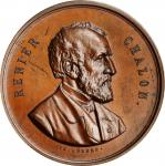 BELGIUM. Royal Numismatic Society Copper Medal, 1885. UNCIRCULATED.