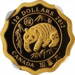 CANADA. 150 Dollars, 2012. NGC PROOF-70 Ultra Cameo.