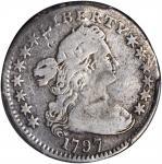 1797 Draped Bust Half Dime. LM-4. Rarity-6. 13 Stars. VG Details--Bent (PCGS).